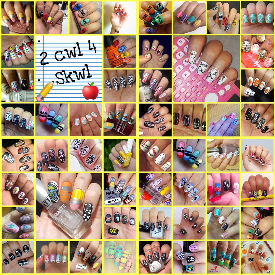 2 Cwl 4 Skwl Collage - Hermit Werds - #NailAddictsCollab