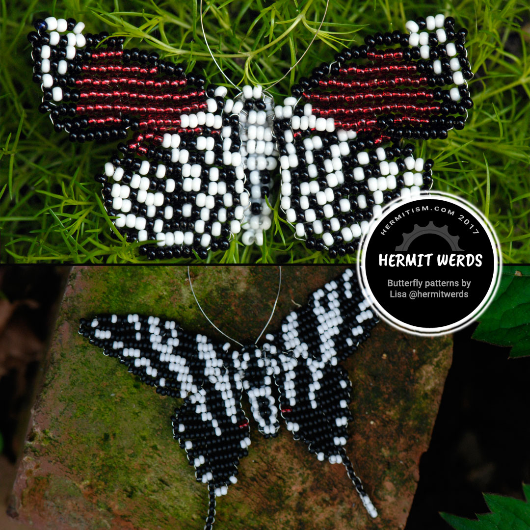Bead Eighty-eight Butterfly and Zebra Swallowtail Butterfly - Hermit Werds