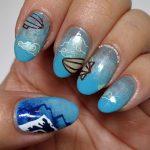 Z is for Zeppelin - ABC Nail Art Challenge - Hermit Werds