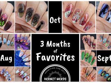 3 Months of Favorites - Hermit Werds - Aug, Oct & Sept 2017