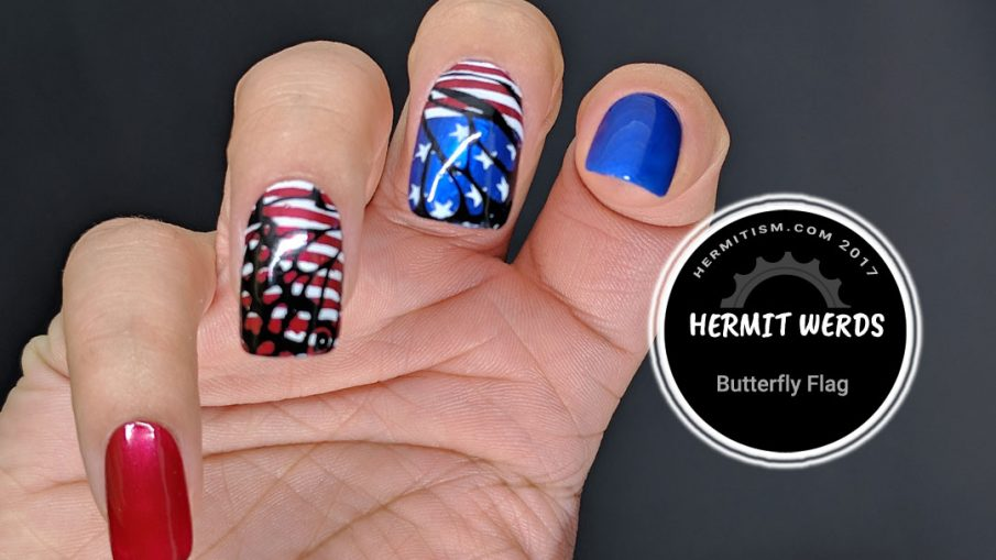 Butterfly Flag - Hermit Werds - the American Flag as seen through a butterfly's wing