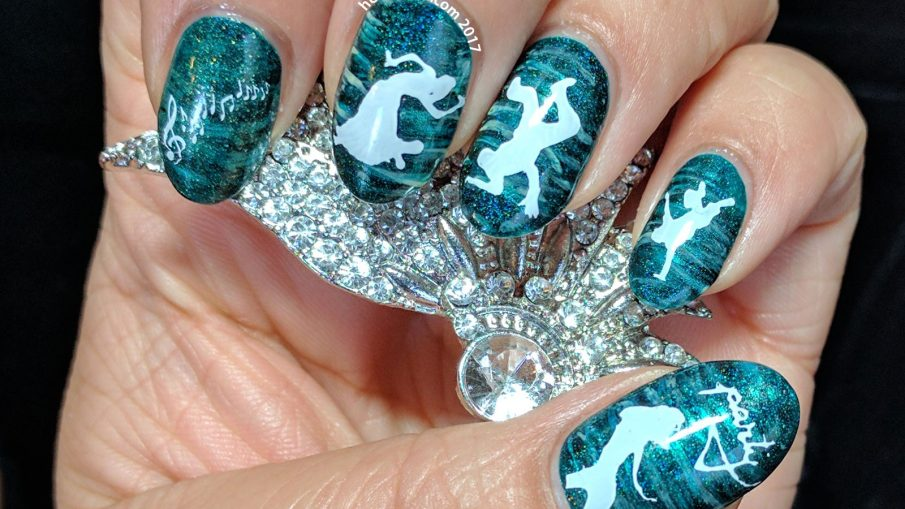 Green Freestyle - Hermit Werds - 26 Great Nail Art Ideas (green freestyle)