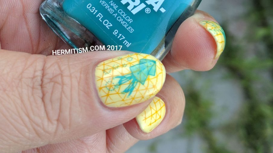 Return to the Yellow Sea - Hermit Werds - 26 Great Nail Art Ideas (Yellow and 1 Bold Color)