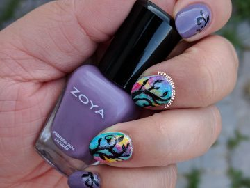Watercolor Rainbow Trees - Hermit Werds - Nail Crazies Unite
