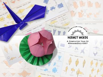 #DailyOrigami2007 - Hermit Werds - A Completed Year