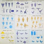 #DailyOrigami2007 - Hermit Werds - origami diagrams: chick, hummingbird, flamingo, roadrunner, ostrich, giraffe, turkey, and paloma