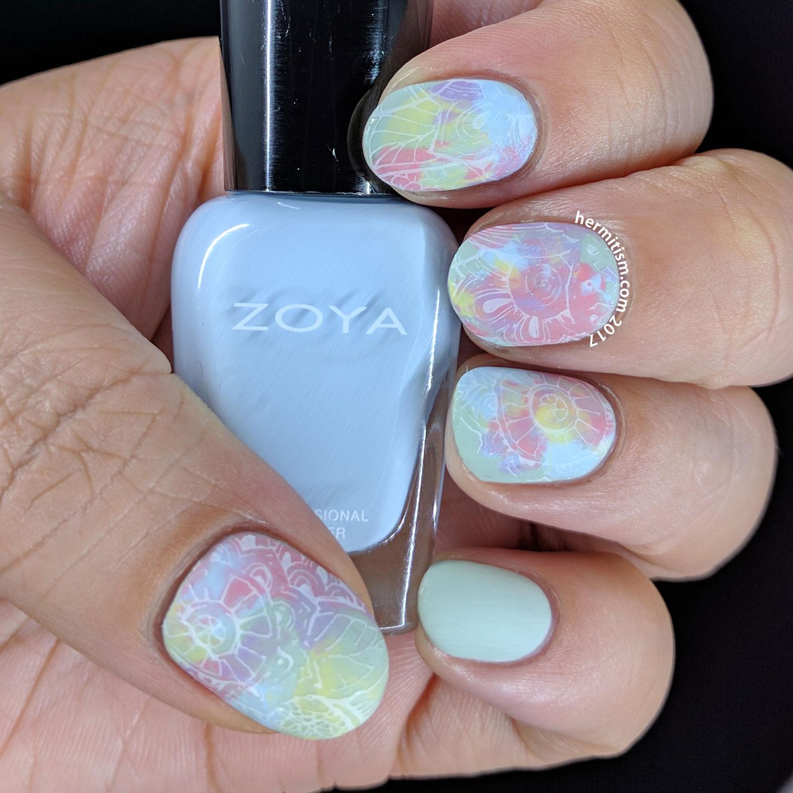 Floral Smoosh - Hermit Werds - Nail Crazies Unite - Pastel Floral
