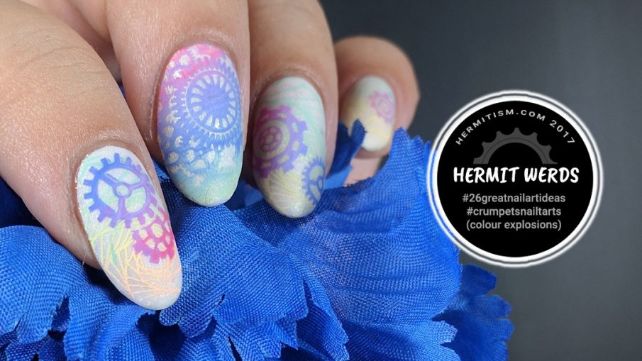 Gears of Rainbow - Hermit Werds - Pastel neon gradient gears for the rainbow steampunk