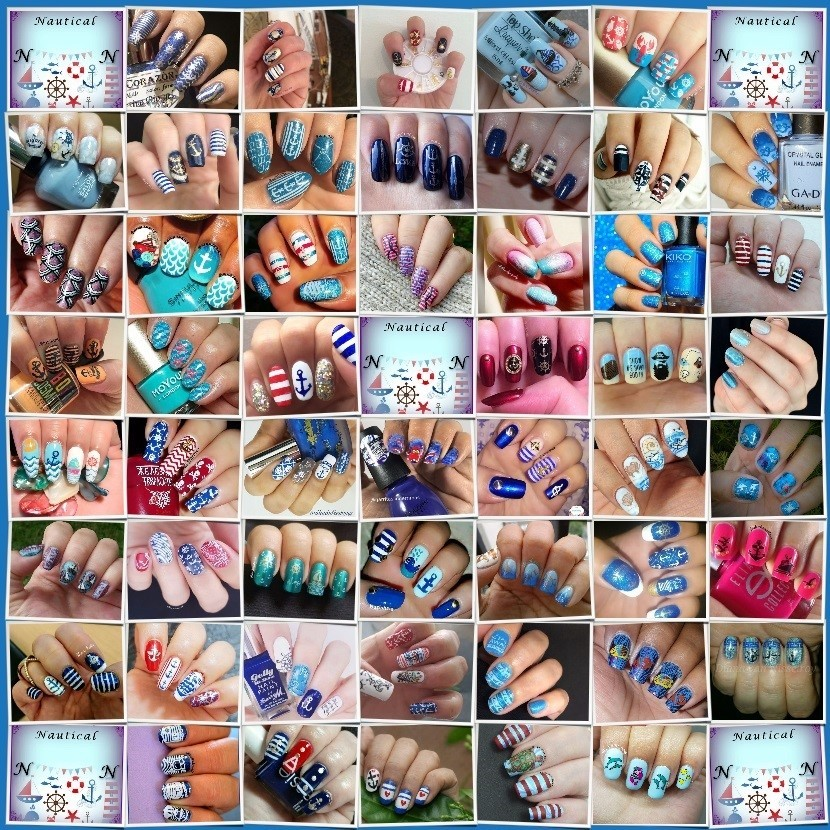 #AZNailArtChallenge - Nautical Collage - Hermit Werds