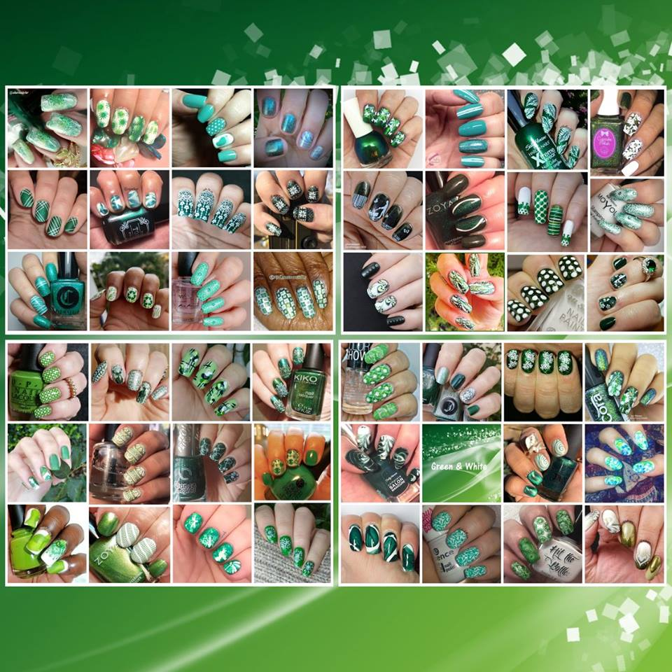 #WhenColoursCollide - Green/White collage