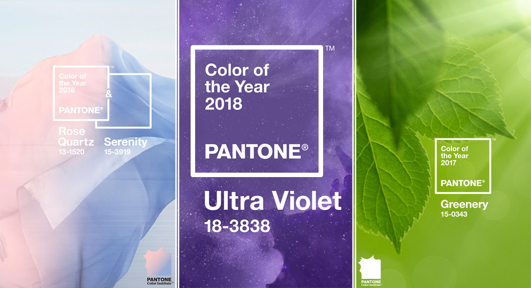 Pantone's Color of the Year for 2016-2018