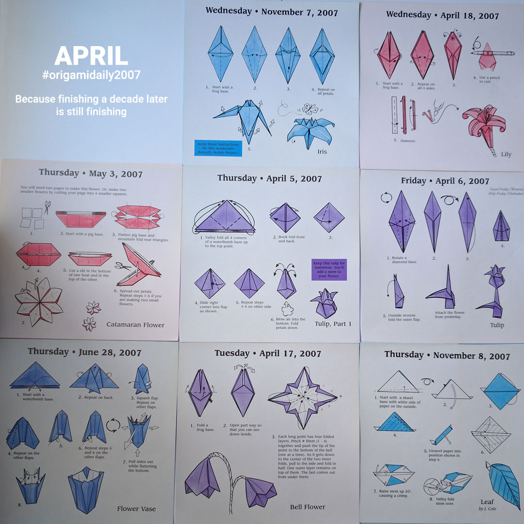 Origami from April - Hermit Werds - April Origami Instructions