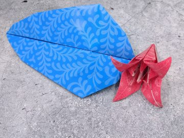 Origami from April - Hermit Werds - Lily and Leaf