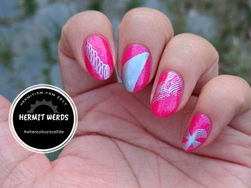 Pink and Silver - Hermit Werds - #whencolourscollide