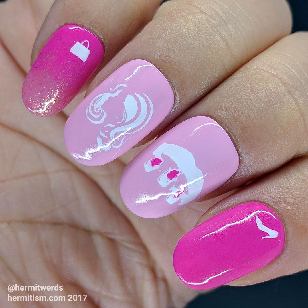 Pink Villainy - Hermit Werds - Mean Girls inspired nail art