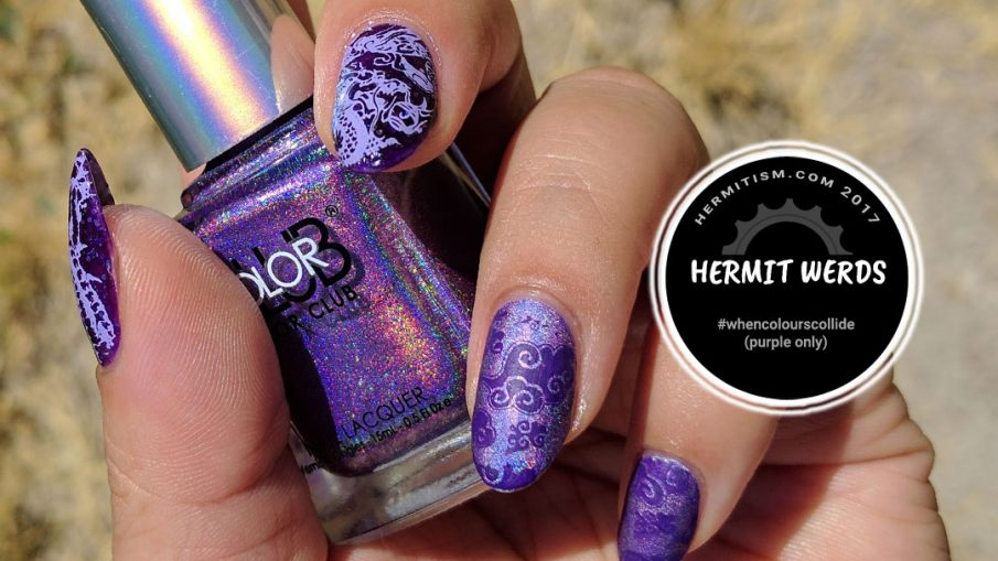 Purple Dragon - Hermit Werds - eastern dragon in purple on a with a cloud pattern and mix of matte and shiny finishes