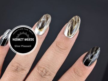 Silver Pheasant - Hermit Werds - natural quail feathers on nails