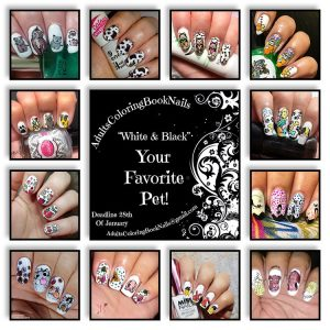 #AdultsColoringBookNails - collage