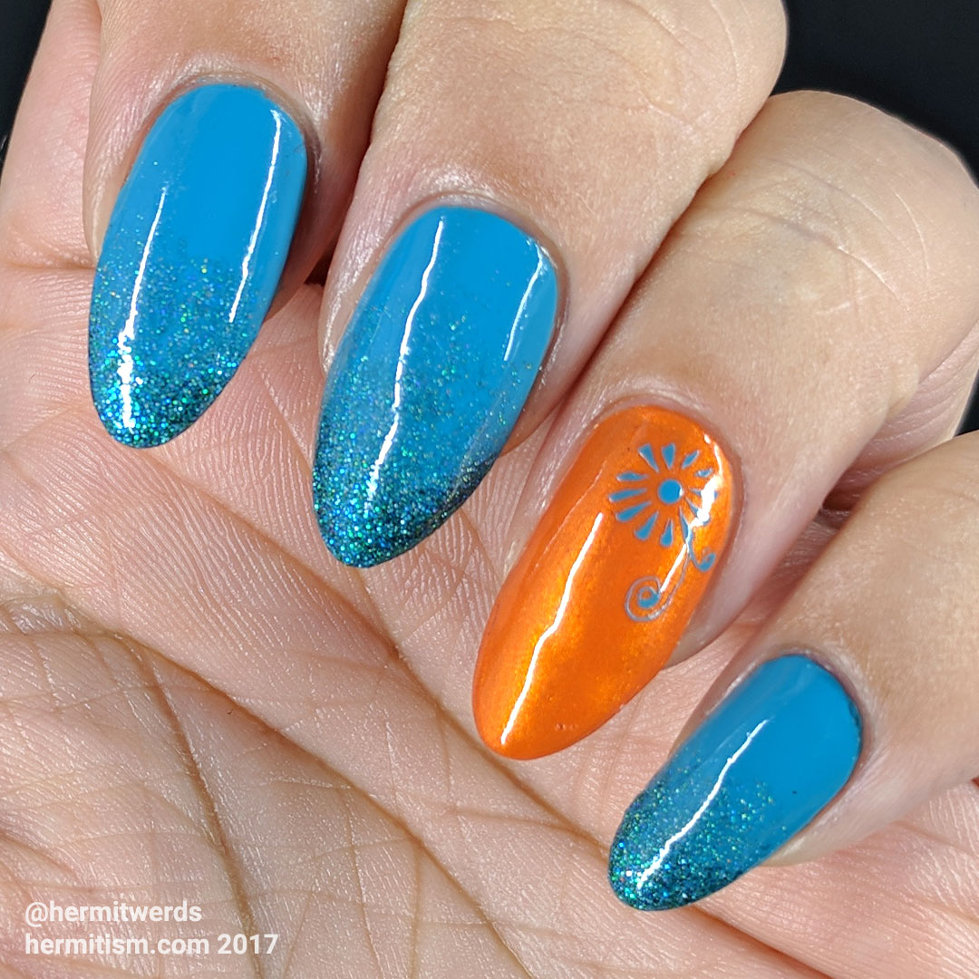 Teal and Orange - Hermit Werds - teal and orange