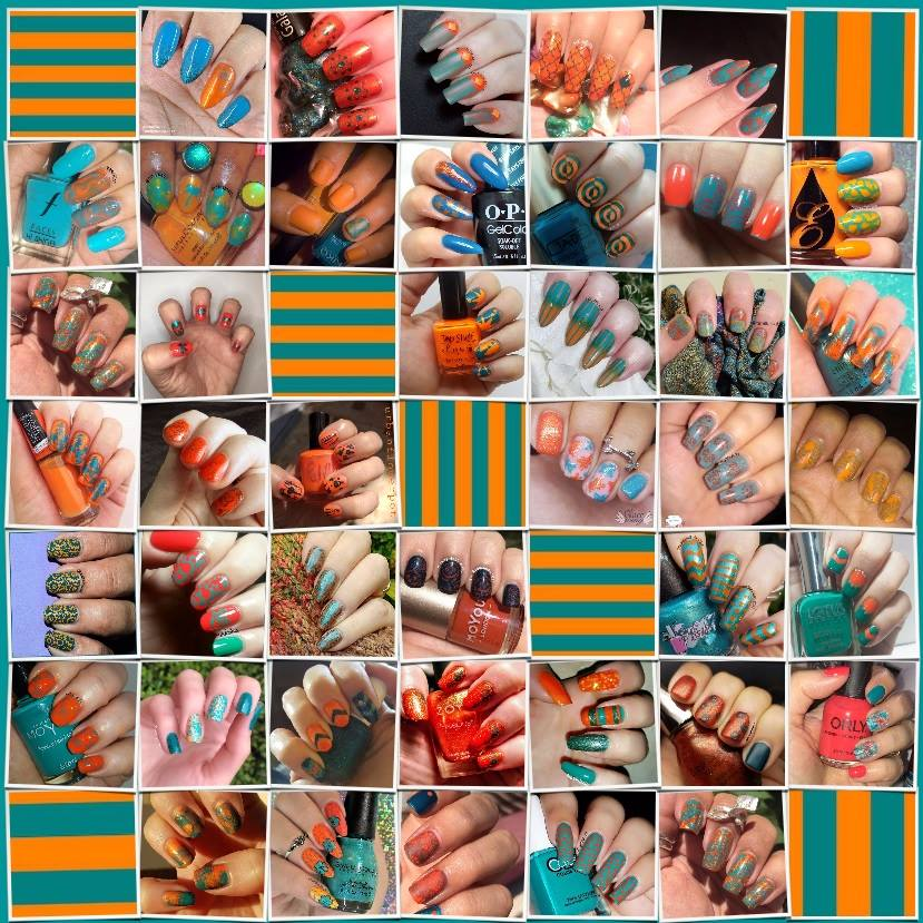 Teal and Orange Collage