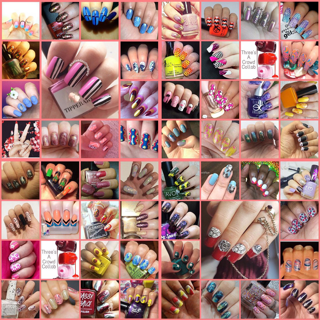 @nailaddictscollab - Three's a Crowd Collage