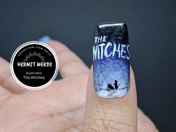 Roald Dahl's The Witches - Hermit Werds - witch looming over tiny mouse that was once a boy