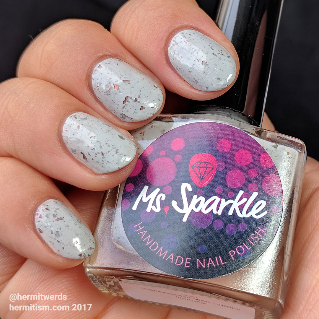 "Ms. Sparkle's ""Grool!"" - Hermit Werds - swatch on natural nails"