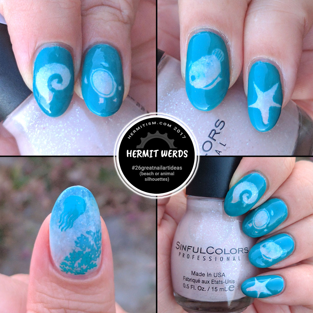 View of the Beach - Hermit Werds - #26greatnailartideas (beach or animal silhouettes)
