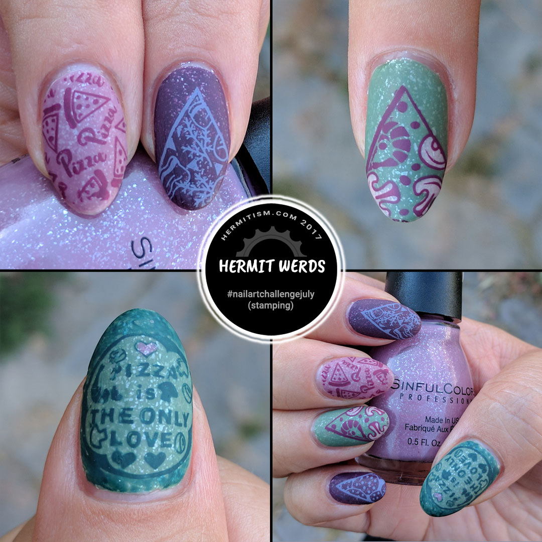Wanna Pizza This? - Hermit Werds - pizza themed nail art