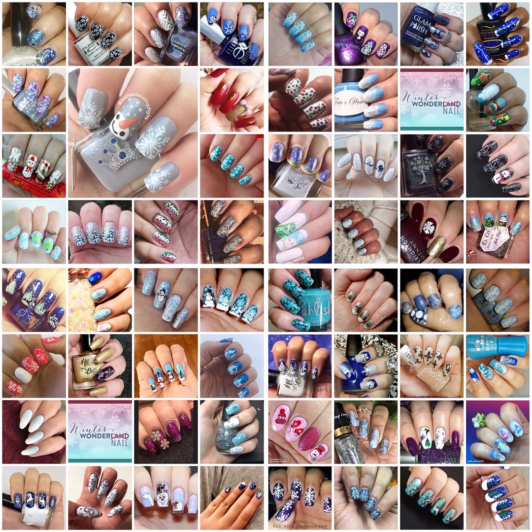 #NailAddictsCollab collage - Winter WonderNail