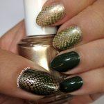 Snake Skin - 31 Day Nail Art Challenge (animal print) - Hermit Werds