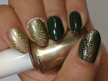 Snake Skin - 31 Day Nail Art Challenge (animal print) - Hermit Werds