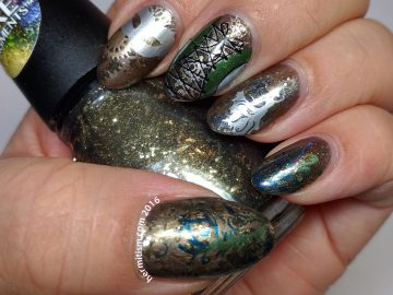 Steampunk Fashion - 31 Day Nail Art Challenge - Hermit Werds