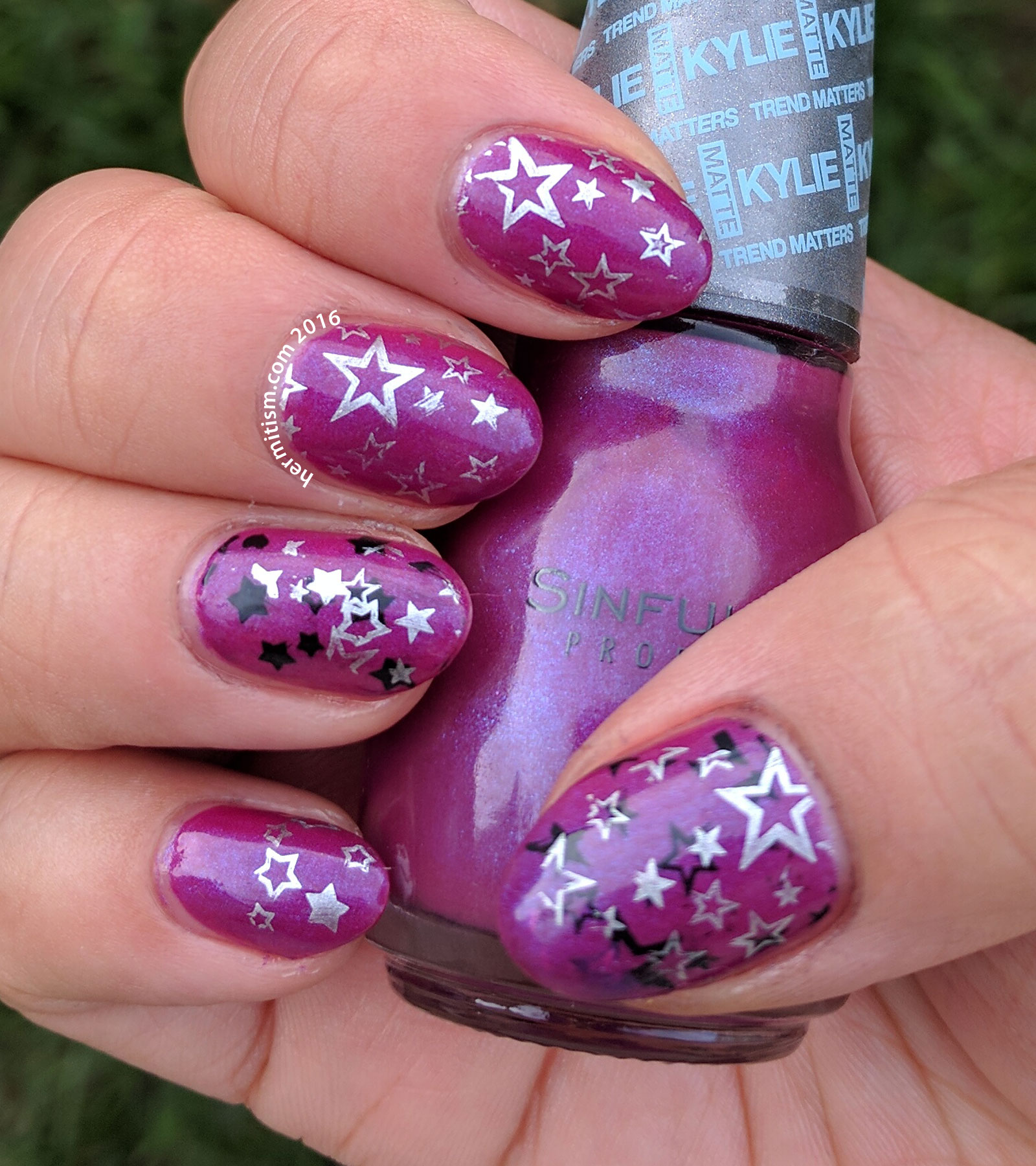 Galaxy - 31 Day Nail Art Challenge - Hermit Werds