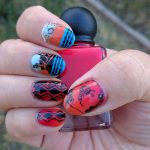 Geometric Kiwi Bird - 31 Day Nail Art Challenge - Hermit Werds