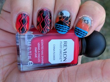 Geometric Kiwi Bird - 31 Day Nail Art Challenge - Hermit Werds