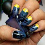Half Moon - 31 Day Nail Art Challenge - Hermit Werds