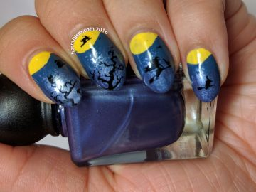 Half Moon - 31 Day Nail Art Challenge - Hermit Werds