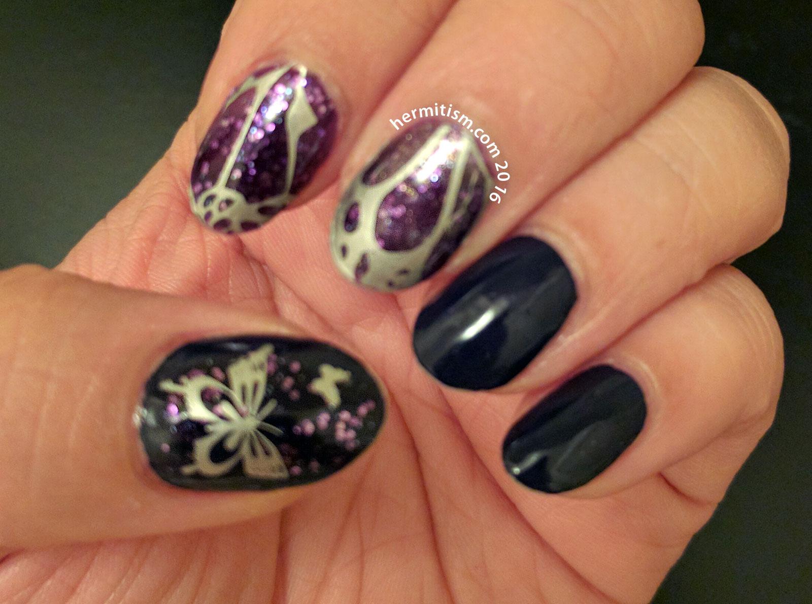 Violet - 31 Day Nail Art Challenge - Hermit Werds