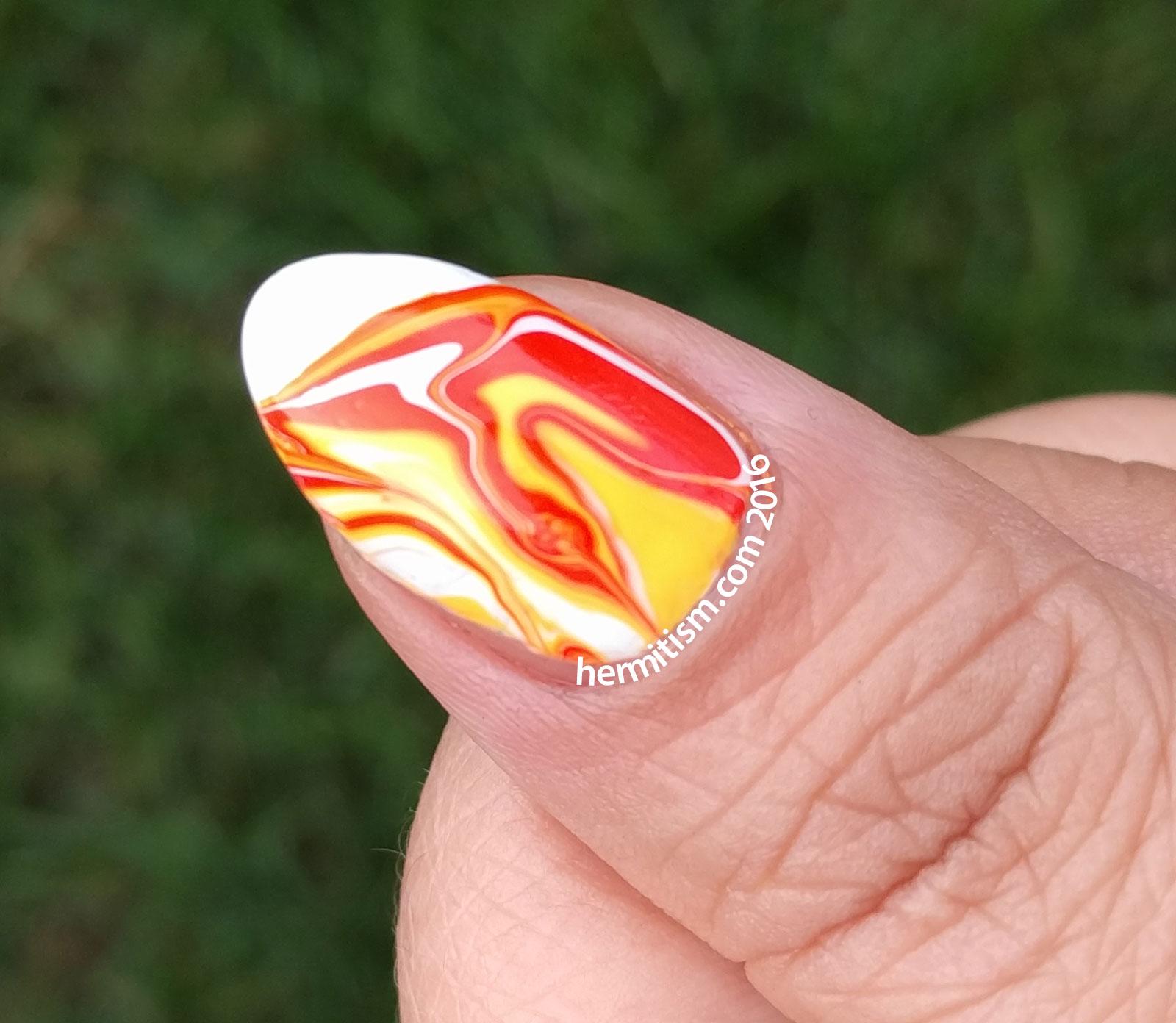 Watermarble - 31 Day Nail Art Challenge - Hermit Werds