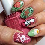 B is for Breakfast - ABC Nail Art Challenge - 26 Great Nail Art Ideas (winter warmth) - Hermit Werd