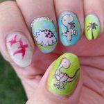 D is for Dinosaur - ABC Nail Art Challenge - Hermit Werds