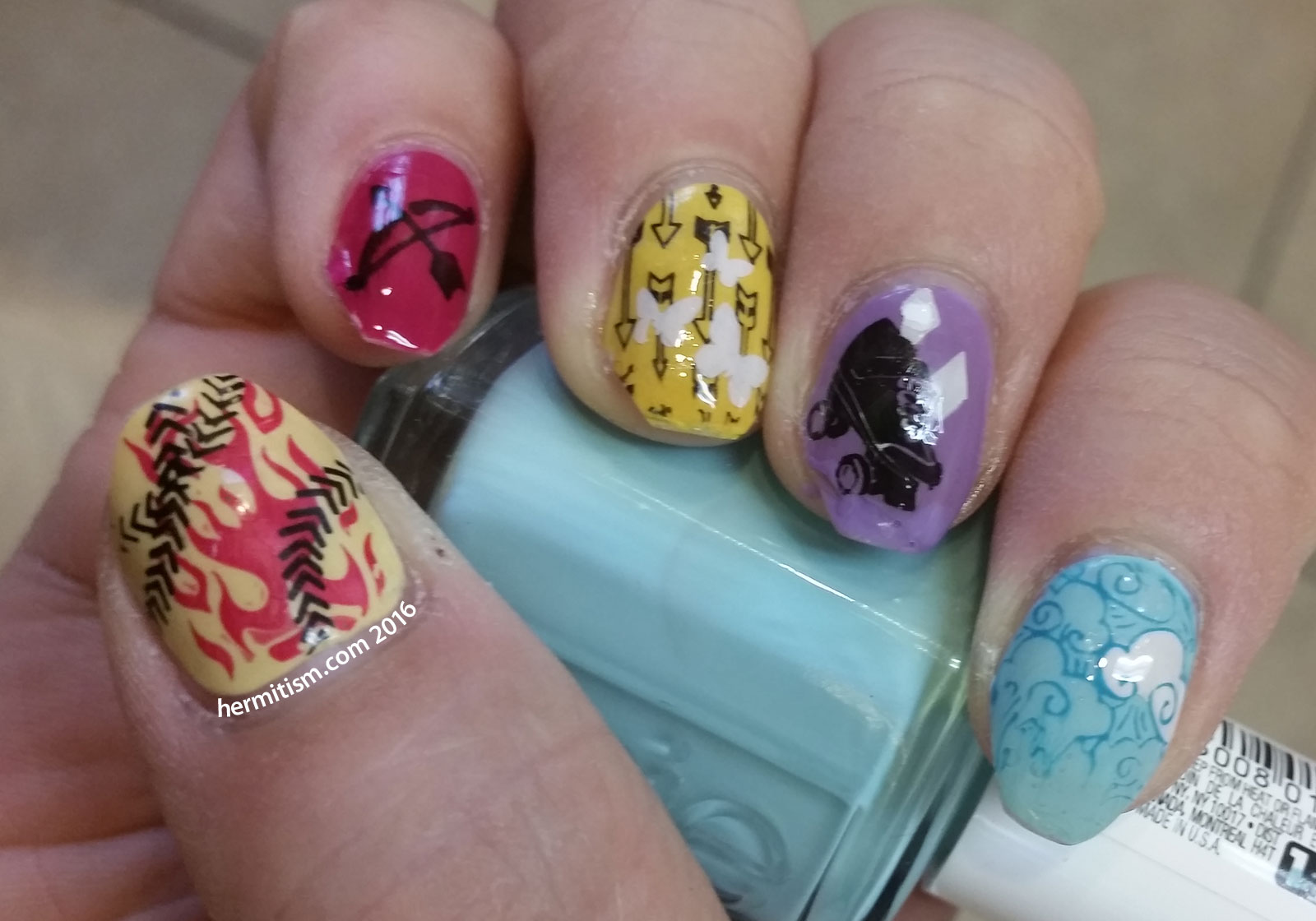 E is for Equestria Girls - ABC Nail Art Challenge - Hermit Werds