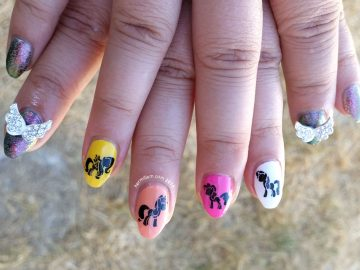 M is for My Little Pony - ABC Nail Art Challenge - Hermit Werds