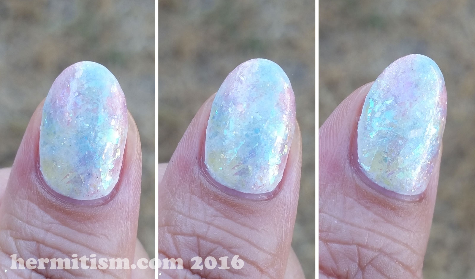 O is for Opal - ABC Nail Art Challenge - Hermit Werds