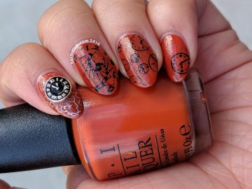 T is for TIme - ABC Nail Art Challenge - 31 Day Challenge (color) - Hermit Werds