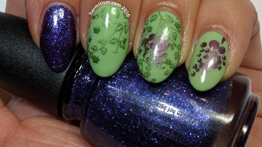 V is for Vixen - ABC Nail Art Challenge - Hermit Werds