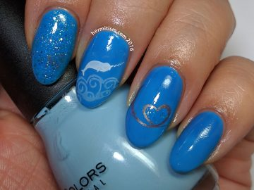 W is for Whale - ABC Nail Art Challenge - Hermit Werds