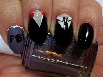 X is for X-files - ABC Nail Art Challenge - 31 Day Challenge (tv show) - Hermit Werds