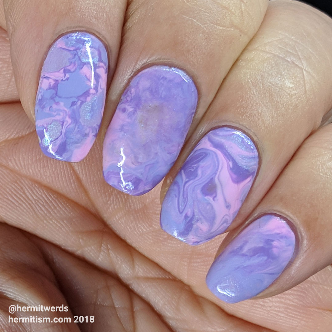 Lovingly Lilac - Hermit Werds - a pink and lilac smoosh marble